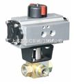 供应气动电动+手动三通高压球阀-LPK14