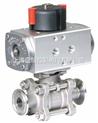 藍帕閥門-供應LAPAR氣動電動+手動衛生級球閥LPC11
